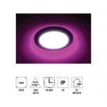 """Forlife FL-2056P 6+3W 3,5"""" Çift Renkli Led Panel Armatür Pembe Işıklı Beyaz"""