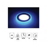 """Forlife FL-2056P 6+3W 3,5"""" Çift Renkli Led Panel Armatür Mavi Işıklı Beyaz"""