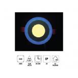 """Forlife FL-2054M 5W 2,5"""" Çift Renkli Led Panel Armatür Mavi Işıklı Günışığı"""