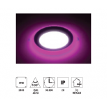 "Forlife FL-2055P 4+2W 2,5"" Çift Renkli Led Panel Armatür Pembe Işıklı"