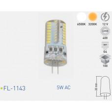 Forlife FL-1143 5W 12V AC G4 Duylu Mini Led Ampul Beyaz