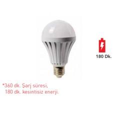 Forlife FL-6056 7W E27 Şarjlı Led Ampul Beyaz