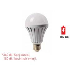 Forlife FL-6057 9W E27 Şarjlı Led Ampul Beyaz
