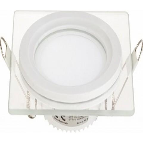 Forlife FL-2123 5W Dekoratif Kare Camlı LED Armatürler Beyaz